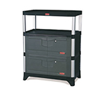 Rubbermaid FG9T4100 BLA Cabinet Kit w/ Doors, Side & Back Panels for 9T36, 9T37, 9T40 & 9T42