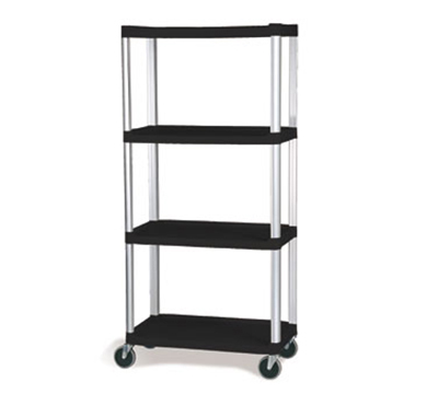 Rubbermaid FG9T4300 BLA 4-Shelf Xtra Shelf Truck - 800-lb Capacity, Black