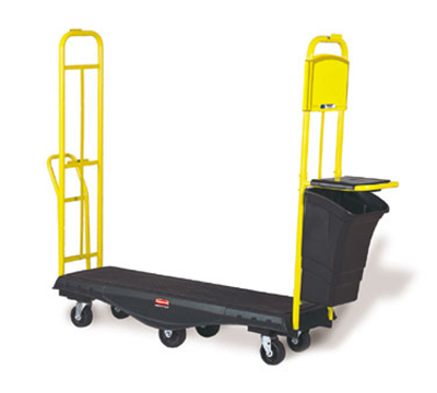 "Rubbermaid FG9T5200 BLA Restocking Truck with Standard Deck - 1800-lb Capacity, 63x18x64-1/4""  Black"