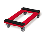 "Rubbermaid FG9T5500 RED Padded Deck Dolly - 1000-lb Capacity, 4"" Swivel Castors, Red"