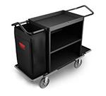 Rubbermaid FG9T6200 BLA High Capacity Housekeeping Cart - 2-Shelf, 9 cu ft Capacity, Black