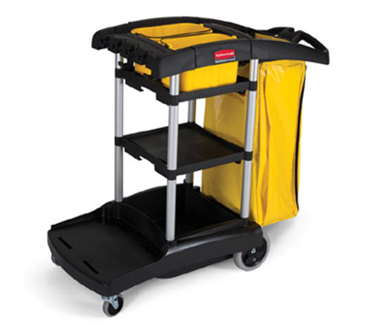 Rubbermaid FG9T7200 BLA High Capacity Cleaning Cart - 5 cu ft, Black