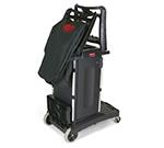 Rubbermaid FG9T7600 BLA High Capacity Compact Housekeeping Cart - Black