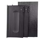 Rubbermaid FG9T8500 BLA Locking Cabinet Door Kit - Compact Cart, Black