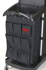 Rubbermaid FG9T9000 BLA 9-Pocket Fabric Organizer Cart Caddy