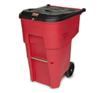 Rubbermaid FG9W2000 RED 95-gal BRUTE Medical Waste Container - Key Lock, Red