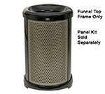 Rubbermaid FG9W5400DGRN 32-gal Infinity Perforated Panel Kit - Round, Dark Green