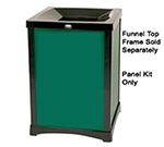 Rubbermaid FG9W5500DGRN Round Infinity Panel Kit, 35 gal, Solid, (4) Panels, (4) Uprights, Dark Green