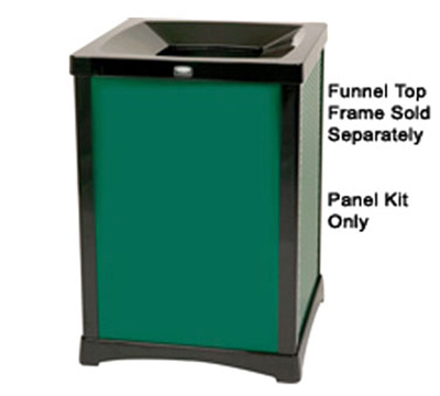 Rubbermaid FG9W5500DGRN 35-gal Infinity Solid Panel Kit - Square, Dark Green