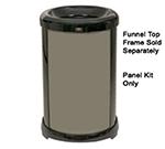 Rubbermaid FG9W5900DGRN 32-gal Infinity Solid Panel Kit - Round, Dark Green
