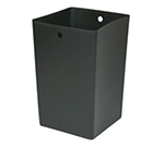 Rubbermaid FG9W6300 BLA 35-gal Infinity Square Rigid Liner - Black