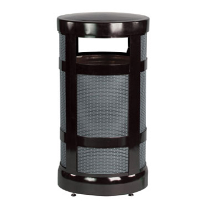 Rubbermaid FGA17BKPL 17-gal Architek Waste Receptacle - Radius Top, Black/Anthracite