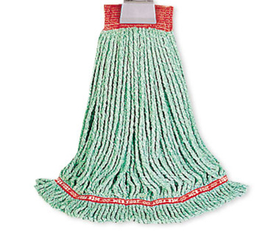 Rubbermaid FGA25306 GR00 Large Web Foot Wet Mop 4-ply 5 in Headband Bacterial Resistant Green Restaurant Supply