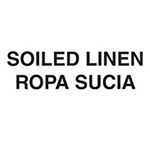 """Rubbermaid FGCL2 Medical Waste Decal - """"Soiled Linen"""" English/Spanish"""