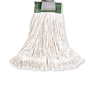"Rubbermaid FGD15106 WH00 Looped-End Small Wet Mop Head - 5"" Headband, 4-Ply Cotton, White"