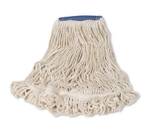 """Rubbermaid FGD25406 WH00 Super Stitch X-Large Mop Head - 5"""" Headband, 4-Ply Cotton/Synthetic, White"""