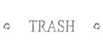 Rubbermaid FGDRD1 Silhouette Recycling Dark Can Decal - TRASH