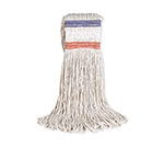 Rubbermaid FGE13600 WH00 16-oz Looped-End Mop Head - Cotton, White