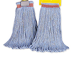 Rubbermaid FGE23800 BL00 24-oz Looped-End Mop Head - Cotton/Synthetic, Blue