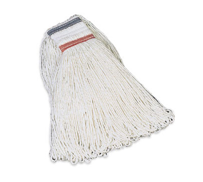 Rubbermaid FGE43600 WH00 16-oz Looped-End Mop Head - Rayon, White