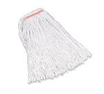 "Rubbermaid FGF15800 WH00 24-oz Premium Mop Head - 5"" Headband, 4-Ply Cotton, White"