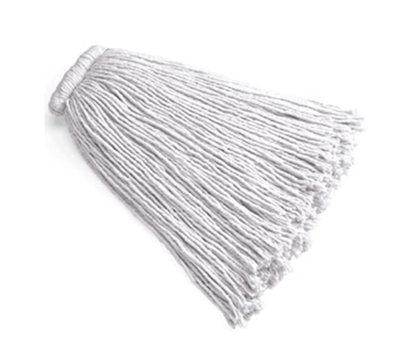 Rubbermaid FGF16800 WH00 24-oz Premium Mop Head - Bolt-On Head, 4-Ply Cotton, White