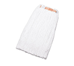 "Rubbermaid FGF41600 WH00 16-oz Premium Mop Head - 1"" Headband, 4-Ply Rayon, White"