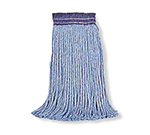 "Rubbermaid FGF55700 BL00 20-oz Premium Mop Head - 5"" Headband, 4-Ply Cotton/Rayon/Synthetic, Blue"