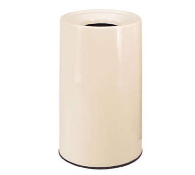 Rubbermaid FG1830LOPLBZ 21-gal Waste Receptacle - Fiberglass, Bronze