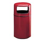 Rubbermaid FG1837PLRS 20-gal Waste Receptacle - Covered Top, Fiberglass, Rose