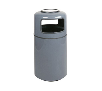Rubbermaid FG1837SUPLCH 20-gal Ash/Trash Receptacle - Covered Top, Fiberglass, Charcoal