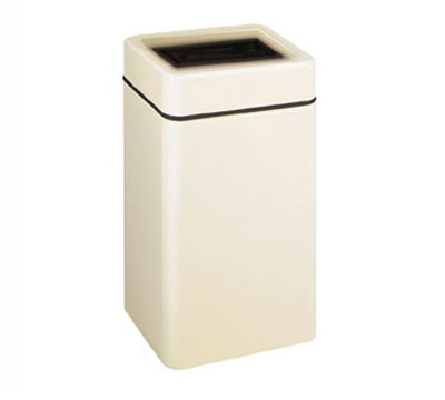 Rubbermaid FG2030SQTPLCH Squared Waste Receptacle 29 Gal Open Top Restaurant Supply