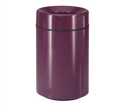 Rubbermaid FG2032PLEGP Waste Receptacle 26 Gal 32 in H Open Top In/Outdoor Plastic Liner Eggplant Restaurant Supply