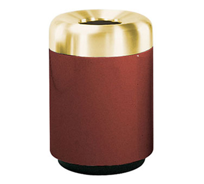 Rubbermaid FG2432TSBPLMV Waste Receptacle 36 Gallon 24 x 32 in H Brass Top In / Out Mauve Restaurant Supply