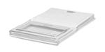 "Rubbermaid FG330500CLR ProSave Dual Action Lid - 18x12x1-3/4"" Clear"