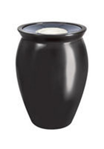 "Rubbermaid FGFGK1924SUBISQ Milan Ash/Trash Receptacle - Pescara Covered Top, 18-1/2x24"" Fiberglass, Bisque"