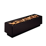 "Rubbermaid FGFGPN184827BK Rectangular Planter -18x48x27"" Fiberglass, Black"
