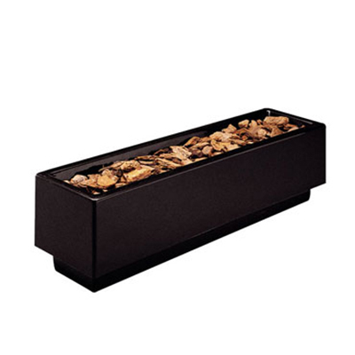 "Rubbermaid FGFGPN244812BK Rectangular Planter -24x48x12"" Fiberglass, Black"