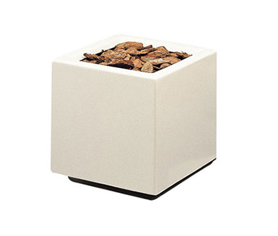 "Rubbermaid FGFGPO3024WH Square Planter -30x30x24"" Fiberglass, White"