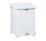 Rubbermaid FGST7EPLWH 7-gal Defenders Step Waste Can - Plastic Liner, White