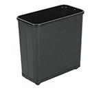 """Rubbermaid FGWB30RBK 30-qt Steel Wastebasket - 8x17x15"""" Black"""
