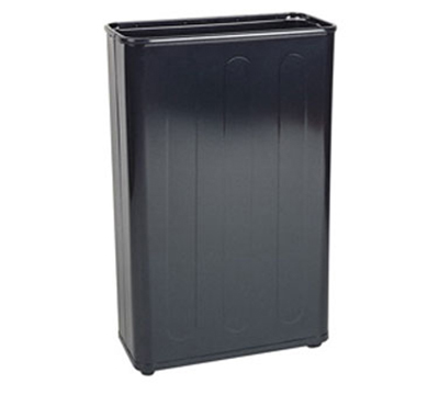 "Rubbermaid FGWB96RBK 96-qt Steel Wastebasket - 11x21x30"" Black"