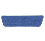 "Rubbermaid FGQ40900BL00 18"" Economy Wet Room Pad - Microfiber, Blue"