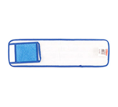 "Rubbermaid FGQ41500BL00 18"" Hygen Wet Room Pad with Scrubber - Microfiber, Blue"