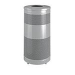 """Rubbermaid FGS3ETSMPLBK 25-gal Recycling Receptacle - """"Cans or Bottles"""" Drop Top, Silv"""