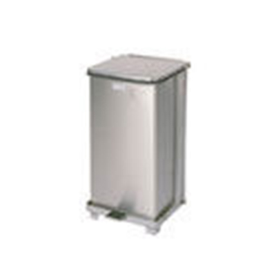 Rubbermaid FGST12SSRB 12-gal Defenders Step Waste Can - Stainless