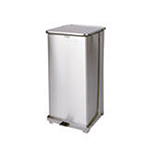 Rubbermaid FGST24SSRB 24-gal Defenders Step Waste Can - Stainless
