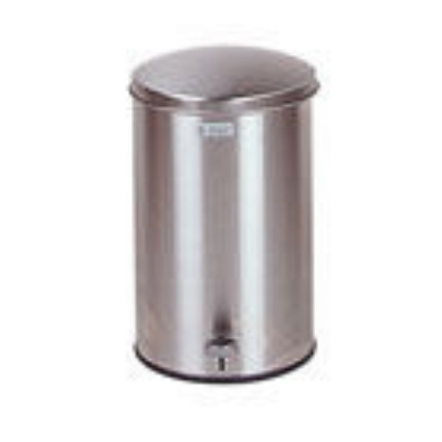 Rubbermaid FGST35SSGL 3-1/2-gal Defenders Step Waste Can - Galvanized Liner, Stainless