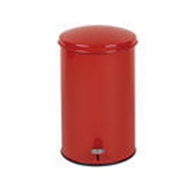 Rubbermaid FGST35EGLRD 3-1/2-gal Defenders Step Waste Can - Galvanized Liner, Red