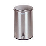 Rubbermaid FGST35SSPL 3-1/2-gal Defenders Step Waste Can - Plastic Liner, Stainless